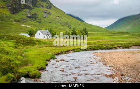 Scenic sight in Glencoe, in the Lochaber area of the Scottish Highlands. - Stock Photo