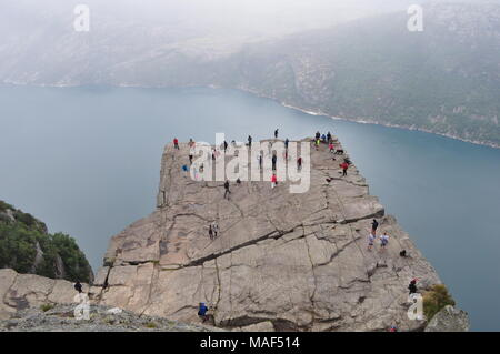 Preikestolen / Preachers Pulpit, Norway - Stock Photo