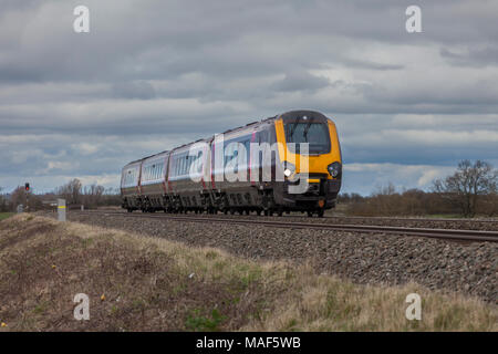 A Crosscountry trains class 221 voyager train at Tredington (Gloucestershire) on the Birmingham - Bristol line - Stock Photo