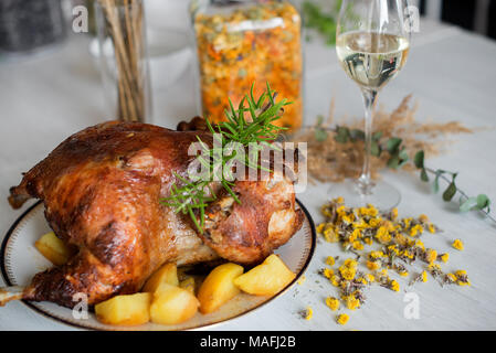 Thanksgiving dinner party - Stock Photo