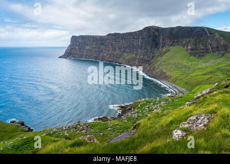 Scenic cliffs near Neist Point in the Isle of Skye, Scotland. - Stock Photo