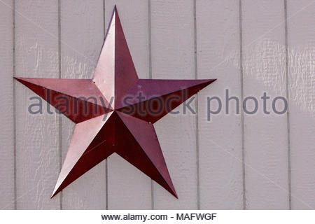 Barnstar A 5 Pointed Star Historic Decoration On Side Of Building