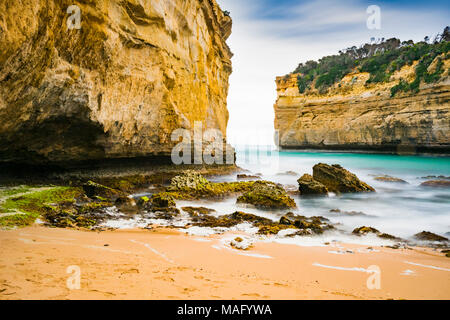 Loch Ard Gorge along the Great Ocean Road in Victoria, Australia - Stock Photo