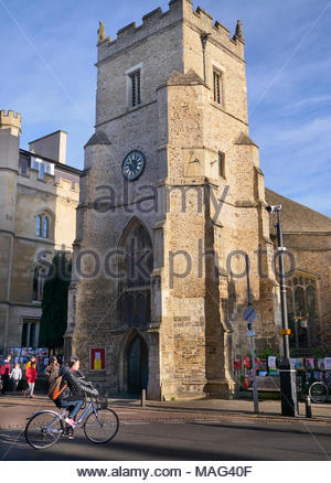 St Botolph's church in Trumpington street in Cambridge city in England uk - Stock Photo