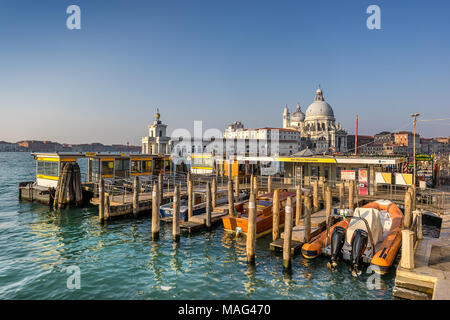San Marco Vallaresso water bus station in Venice - Stock Photo