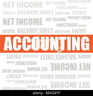 Accounting with related words, vector business background - Stock Photo