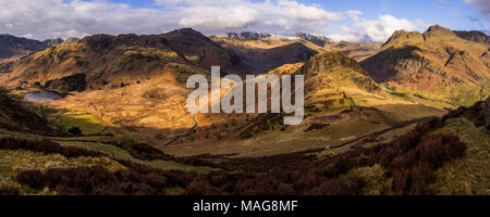 English Lake District panorama - Great Langdale - Stock Photo