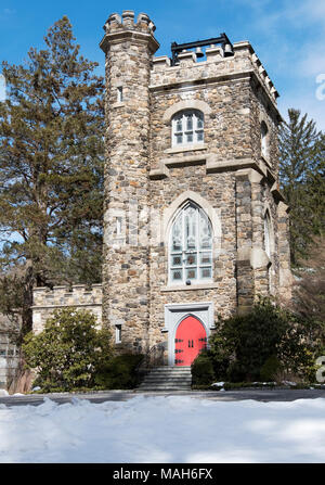 Saint Mary the Virgin Episcopal Church on South Greeley Avenue in downtown Chappaqua,New York. - Stock Photo