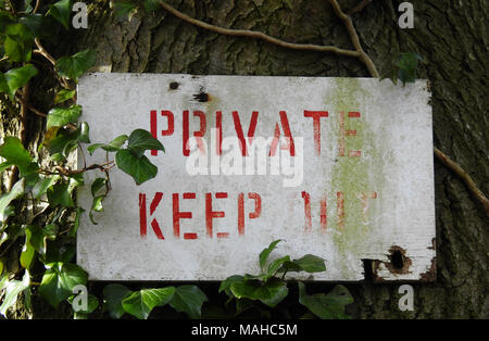 Private Keep Out Sign - Stock Photo
