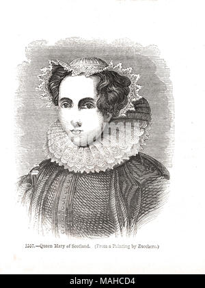 Mary Queen of Scots, 1542-1587, Mary Stuart, Queen of Scotland, queen consort of France - Stock Photo