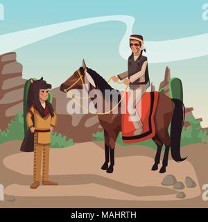 American indian warriors tribe - Stock Photo