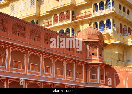 Chandra Mahal, City Palace, Jaipur, Rajasthan, - Stock Photo
