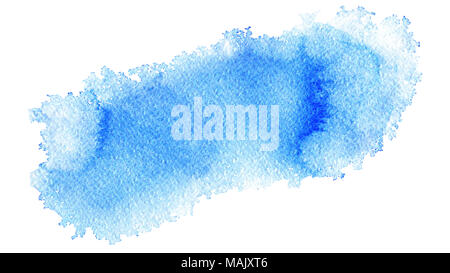 Hand painted watercolor abstract soft light blue  web banner background on textured paper - Stock Photo