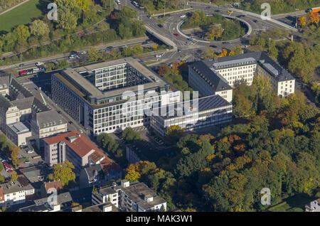 Luftbild, Ministerium für Wirtschaft, Arbeit, Energie und Verkehr, Oberlandesgericht Saarbrücken, OLG Saarbrücken, Saarbrücken, Saarland, Deutschland, - Stock Photo