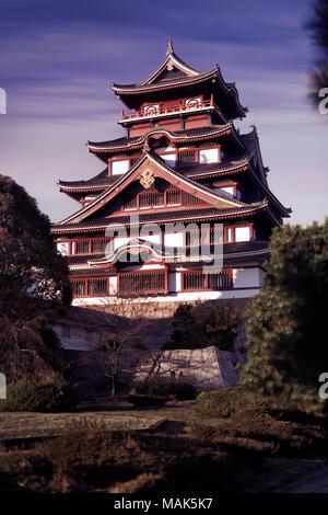 Fushimi Castle, Fushimi-jo in Kyoto, also known as Fushimi-Momoyama Castle or Momoyama Castle. Azuchi–Momoyama period Japanese castle in Fushimi-ku  - Stock Photo