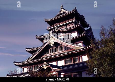 Historic building of Fushimi Castle, Fushimi-jo in Fushimi-ku, Kyoto, Japan 2017 - Stock Photo
