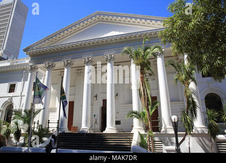 The National Library of South Africa, behind Company's Garden, in Cape Town city centre - Stock Photo
