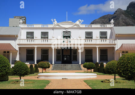 Rear side of the Houses of Parliament on Government Avenue, by Company's Garden, Cape Town, South Africa - Stock Photo
