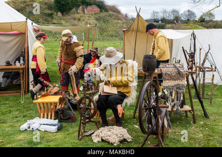 Sealed Knot re-enactment of the Siege of Basing House, English civil war - Stock Photo