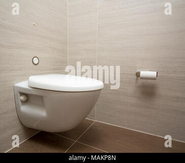 Modern toilet or WC in cruise ship cabin - Stock Photo