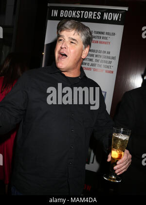 New York City, New York, USA. 2nd Apr, 2018. News personality SEAN HANNITY attends the book party to celebrate the publication of 'The Geraldo Show' held at Del Frisco's Restaurant. Credit: Nancy Kaszerman/ZUMA Wire/Alamy Live News - Stock Photo