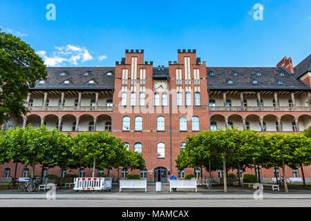 BERLIN, GERMANY - JULY 1, 2014: The Charite Universitatsmedizin Berlin, Europe's largest University clinic. Building of Charite Research Organisation  - Stock Photo