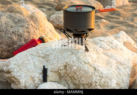 Tourist equipment and tools: camping gas - Stock Photo