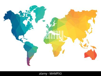 Abstract geometric world map polygon earth vector illustration abstract polygon world map vector illustration geometric structure in blue color for presentation gumiabroncs Choice Image