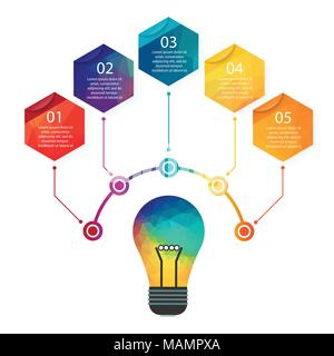 Flat design illustration concepts for big idea, marketing, brainstorming, business, analysis,company strategy, project management. - Stock Photo