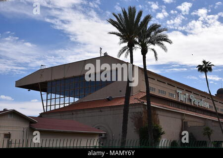 Turf Paradise Horse Race track in Phoenix Arizona 4/1/18 - Stock Photo