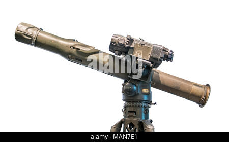 TOW weapon system from Vietnamese war, isolated on white background - Stock Photo