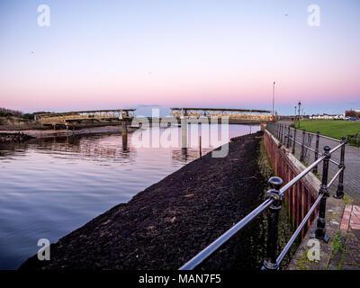 Irvine harbour Bridge - Stock Photo