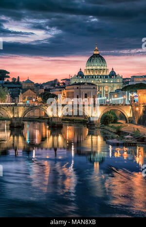 St Peter's basilica in Rome - Stock Photo