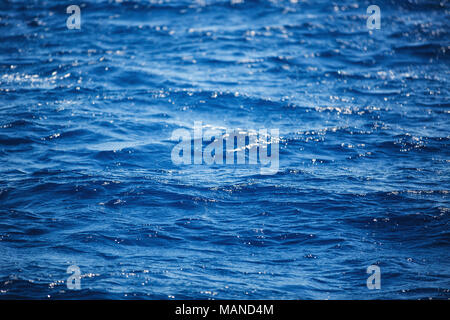 Flowing water surface.  Background of Carribean sea waves, near Punta Cana, Dominican Republic. - Stock Photo