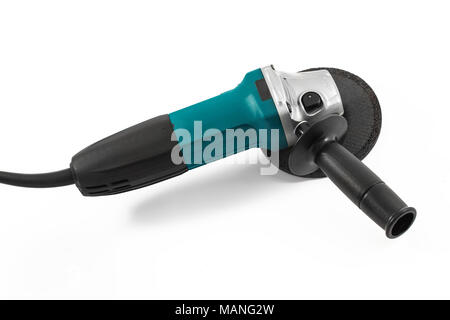 Electric grinding tool isolated on white background - Stock Photo