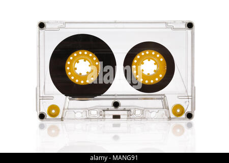 Cassette isolated on white background - Stock Photo