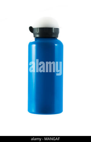 Blue sport tumbler isolated on a white background - Stock Photo