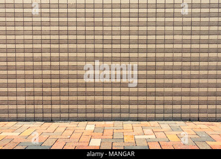 Ceramic tile background on exterior wall. - Stock Photo