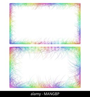 Business card border templates in rainbow colors stock vector art business card border templates in rainbow colors stock photo accmission Gallery