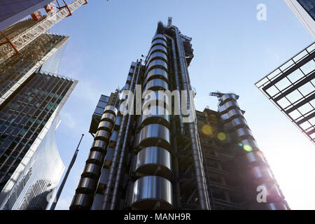 LONDON - MAY, 2017: Lloyd's of London building, designed by architect Richard Rogers, Lime Street, City Of London, London, EC3 - Stock Photo