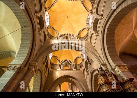 Cathedral Notre-Dame du Puy en Velay, Haute Loire, Auvergne, France - Stock Photo