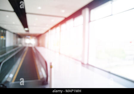 image of Abstract blurred outdoor table and chait in garden on day time for background usage - Stock Photo