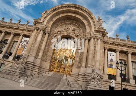 PARIS, FRANCE:  Petit Palais which is home to the Musee des Beaux-Arts de la Ville de Paris - Stock Photo