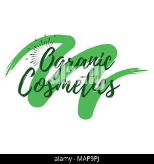 Organic Cosmetics label. Eco style and Wellness Life. Healthy Lifestyle badges. Vector illustration icon. - Stock Photo