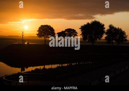 Sunrise at Saint Valery-Sur-Somme, France - Stock Photo