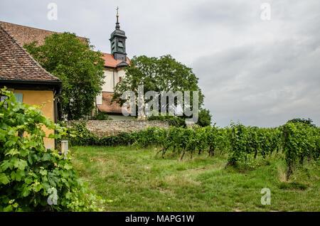 Pilgrimage Church Maria im Weingarten (St. Mary in the Vineyard) near Volkach in Franconia - Stock Photo