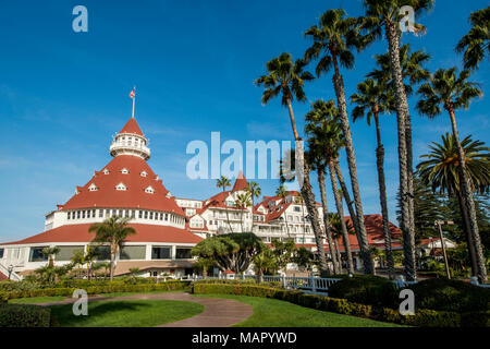 Hotel Del Coronado California Historical Landmark No. 844, San Diego, California, United States of America, North America - Stock Photo
