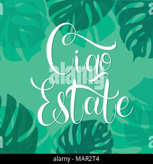 Ciao estate hello summer lettering on italian elements for hello summer lettering on italian elements for invitations posters greeting m4hsunfo