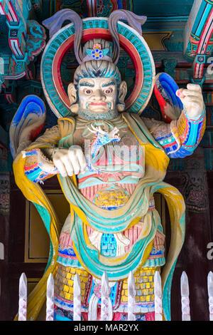 Temple guards at the gates of Pulguksa temple, Bulguksa Temple, Gyeongju, Kyongju, South Korea, Asia - Stock Photo