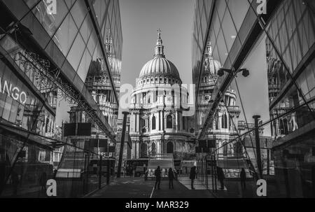 St. Paul's Cathedral, City of London, London, England, United Kingdom, Europe - Stock Photo